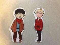 Cartoon Merlin and Arthur, so cute!