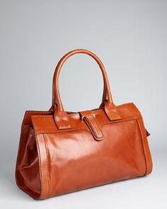 Chloe - mahogany leather 'Diane' large shoulder bag
