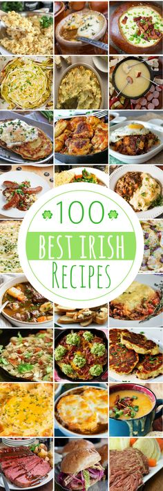 100 Irish Recipes for St Patrick's Day #StPatricksDay #StPatricksDayRecipes #beeffoodrecipes