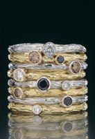 The ultimate stacking rings by Sarah Graham at Alchemy Jewelry