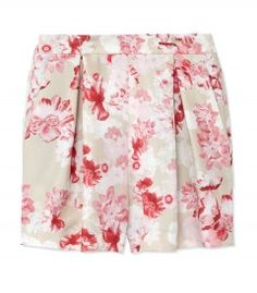 Giambattista Valli Floral Shorts - Dark & Delicate http://shop.harpersbazaar.com/trends/street-style-dark-delicate