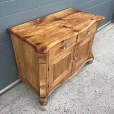 147.....Antique Small Pine Sideboard / Stripped Pine Cupboard – Ipplepen Interiors