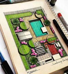 Interesting Find A Career In Architecture Ideas. Admirable Find A Career In Architecture Ideas. Landscape Model, Landscape Architecture Drawing, Landscape Sketch, Landscape Design Plans, Landscape Drawings, Architecture Tools, Computer Architecture, Enterprise Architecture, Architecture Student