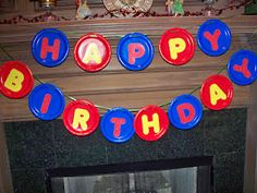 banner with $tree plates and letters & paper plate birthday banner via Flower Patch Farmgirl | crafty ...