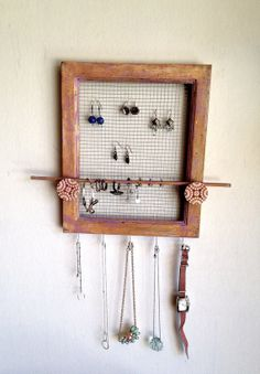Frame Jewelry Multipurpose Holder UpCycled Wood Hand by PippinPost, $39.00