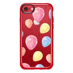 Colorful Balloons Hello Summer - iPhone 7 Case And Cover ($40) ❤ liked on Polyvore featuring accessories, tech accessories, iphone case, apple iphone case, iphone cover case, clear iphone case and iphone cases