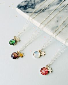 Cosmic Sterling Silver Astronomy Necklace — Eclectic Eccentricity Vintage Jewellery