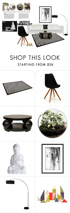 """Mostly Minimalist"" by orietta-rose on Polyvore featuring interior, interiors, interior design, home, home decor, interior decorating, Serfontaine, Home Essentials, HAY and Home"