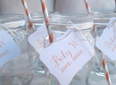 Baby Shower Inspiration - Drink tags