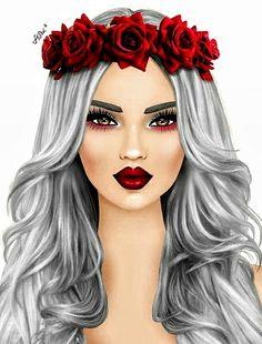 The beauty girl Girly M, Tumblr Drawings, Girly Drawings, Sarra Art, Pop Art Girl, Cute Girl Drawing, Digital Art Girl, Tumblr Girls, Anime Art Girl