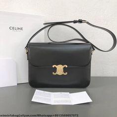 Celine Spazzolato Glossy Calfskin Classic Medium Box Bag Chocolate ... c1705e8db996d