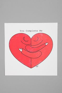 Dale Keys For Society6 You Complete Me Art Print  #UrbanOutfitters