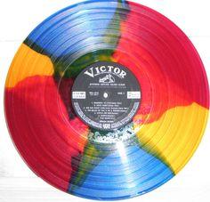 LP with multi-colored vinyl