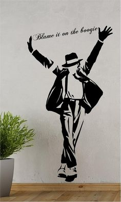 Michael Jackson wall sticker decal by ArtogText on Etsy