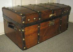 victorian steamer trunk.