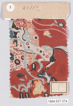 Textile Sample  Gustav Klimt  (Austrian, Baumgarten 1862–1918 Vienna), ca. 1920.