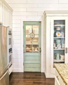 Dirty Facts About Diy Pantry Door Exposed Painted Pantry Doors, Kitchen Pantry Doors, Glass Pantry Door, Kitchen Redo, Kitchen Remodel, Old Farmhouse Kitchen, Kitchen Styling, Pantry Design, Kitchen Design