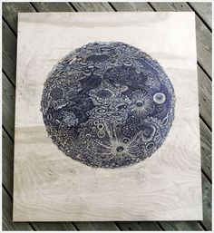 """THE MOON"" by Tugboat Printshop"
