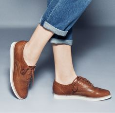 Comfy leather oxfords.