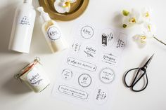 Etykietki do domowego SPA — do druku | naklejki na kosmetyki | etykietki i naklejki do łazienki | dekoracje do łazienki do wydruku za darmo