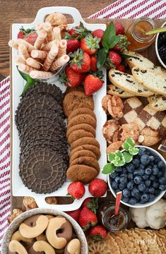 Coffee-Inspired Snackcuterie (Dessert Charcuterie Board) #coffee #dessert #Snackcuterie #Charcuterie #desserts #pastries Baking Recipes, Snack Recipes, Snacks, Trifle Desserts, Delicious Desserts, Cream Cheese Spreads, Trifle Pudding, Dessert Sauces, Food Platters