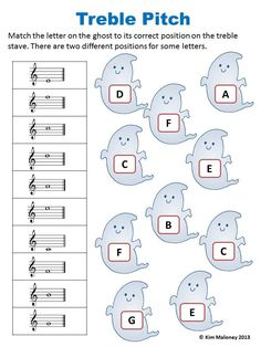 24 HALLOWEEN Themed Music Worksheets! 1. Names of Notes and Rests (4 worksheets but TWO versions. One set using North American terminology and the other using British Terminology) 2. Treble Pitch 3. Bass Pitch 4. Alto Pitch 5. Music Signs and Symbol $: 24 HALLOWEEN Themed Music Worksheets! 1. Names of Notes and Rests (4 worksheets but TWO versions. One set using North American terminology and the other using British Terminology) 2. Treble Pitch 3. Bass Pitch 4. Alto Pitch 5. Music Signs and…