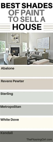 Top shades of paint to use when you are selling a house. Best paint colors, brands, and finishes to sell your home. Westchester County NY. #LivingRoomRemodeling