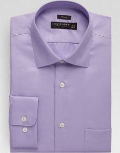Pronto Uomo Lavender Modern Fit Non-Iron Dress Shirt