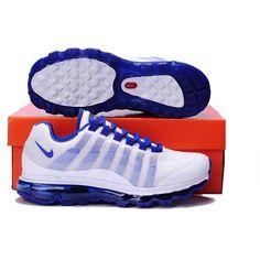 Mens Nike Air Max 95+360 Sneakers White/Royal Blue MX-385 via