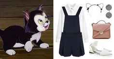5 Disney-Inspired Outfits for International Cat Day | Figaro from Pinocchio | cat headband + jumper | [ http://di.sn/6002BF8yy ]