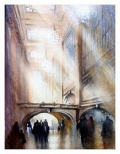 Grand Central Station by Thomas W. Schaller  #Art pls visit us > www.facebook.com/skalapeter7 ♡