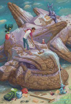 """the-mind-of-mckinney:""""Like all animals, I'm sure Pokemon would like to roll in mud, much to a trainer's frustration. It's a full team effort for a job this big, but it's fun. Pokemon Fan Art, Pokemon Amv, Pokemon Real, Fotos Do Pokemon, Pokemon Comics, Pokemon Funny, Fanart Pokemon, Pokemon Stuff, Pokemon Images"""