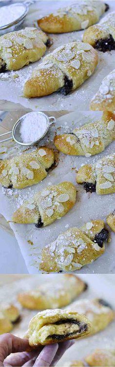 almond, banana, bread, chocolate, dessert, pastry, recipes, roll