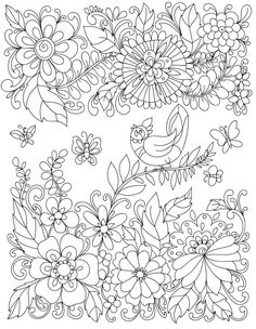 Garden Coloring Pages Fish Page Adult Books Colorful Flowers Relaxing Colors Diy Craft Projects