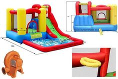 Duplay Jump & Splash 11.5ft x 9ft Bouncy Castle and Waterslide Adventure