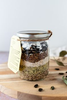 Low carb Brötchen Backmischung im Glas | DIY Upcycling | Koch mit Herz Low Carb Meal, Low Carb High Fat, Diy Upcycling, Food Styling, Mason Jars, Food Photography, Hemp Seeds, Low Carb Bread, Mason Jar