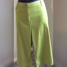 "Chico's Pants Lime green pants. Waist measures 16 1/2"" with a 19"" inseam Chico's Pants Boot Cut & Flare"