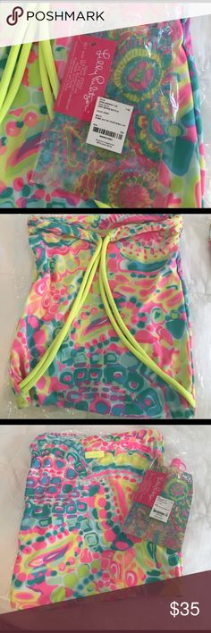 LP stretchy draw string bag and water bag bottle New in packaging Lilly Pulitzer Other