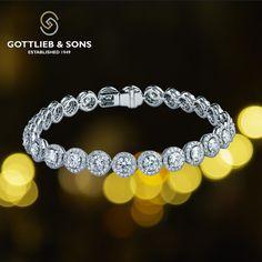 This stunning 14K White Gold Diamond bracelet is a showstopper.  This #bracelet…