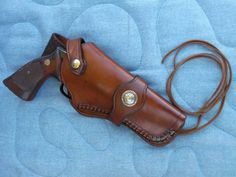 Western Leather Holster and Cartridge Belt custom made to
