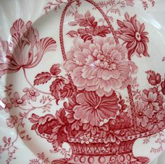 Red Charlotte Transferware