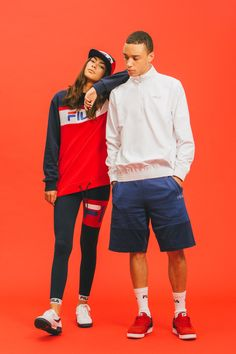 """FILA 2016 Spring/Summer """"Black Line"""" Collection: Inspired by the brand's nostalgic catalog from the and Fashion Shoot, Sport Fashion, 90s Fashion, Editorial Fashion, Fashion Couple, Fashion Guide, Style Fashion, Fashion Design, Couples Assortis"""