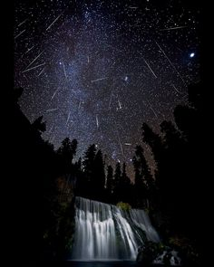 Meteorite Shower over McCloud Falls California | by Brad Goldpaint