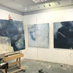 Indigo palette......deep darks and weighty structures in this new body of 4foot canvases... #art #abstract #painting #painter #studio #colour #texture #structure #space #creativelifehappylife #gallery #exhibition #londonart