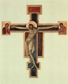 Crocifisso by Cimabue 1272-1280 Santa Croce, Firenze