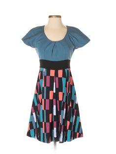 Plenty By Tracy Reese Casual Dress: Size 4.00 Blue Women's Dresses - New With Tags - $41.99