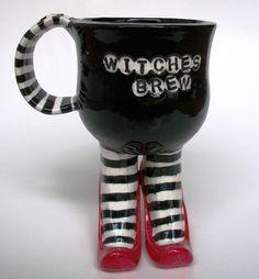 Striped Witch Legs Mug