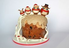 Cake decorated with owls: tutorial So cute