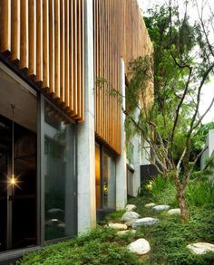 brise soleil, maison créative contemporaine