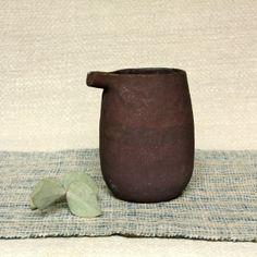 Nobue Ibaraki ~ brown ceramic sake jug
